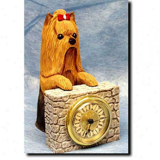 Yorkshire Terrier Cover Clock