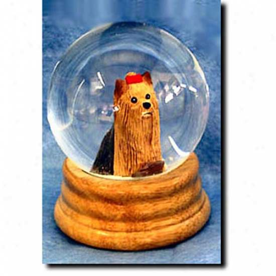 Yorkshire Terrier Musical Snow Globe