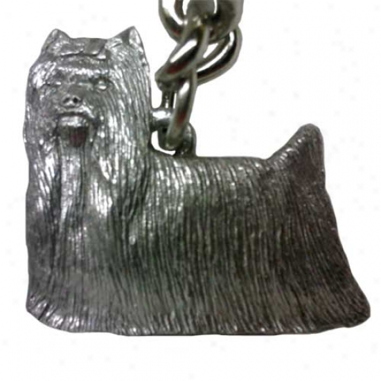 Yorkshire Terrier - Show Clip - George Harris Pewter Keychain