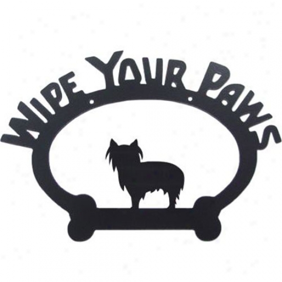 Yorkshire Terrier Wipe Your Paws Decorative Sign Pet Clip