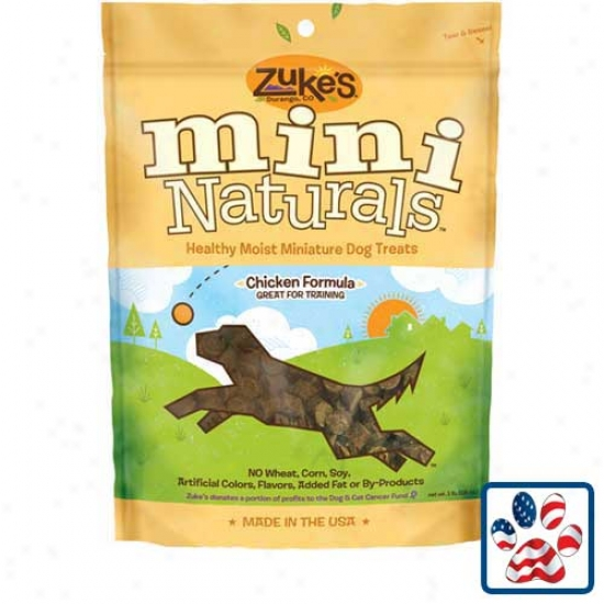 Zukes Mini Naturals Dog Treats 1lb Chicken