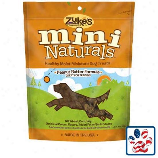 Zukes Mini Naturals Dog Treats Peanut Butter 6oz