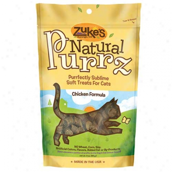Zukes Natural Purrz Cat Treats Chicken 3oz
