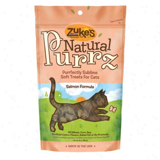 Zukes Natural Purrz Cat Treats Salmon 3oz